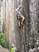 Rock Climbing Photo: Pat on Dacker Cracker