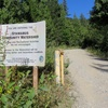 The road to Fluffy Kitten Wall goes up a Stawamus Community Watershed.