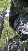Rock Climbing Photo: Shows a cool perspective of the route!