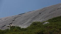 Rock Climbing Photo: Climber on Slick Rock Slab climb