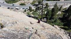 Rock Climbing Photo: This photo shows the first pitch.  There are sever...