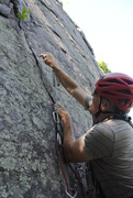 Rock Climbing Photo: My attempt at Astro Turk last week.  Leading placi...