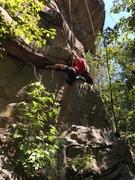 """Rock Climbing Photo: battling through 2nd """"boulder problem"""