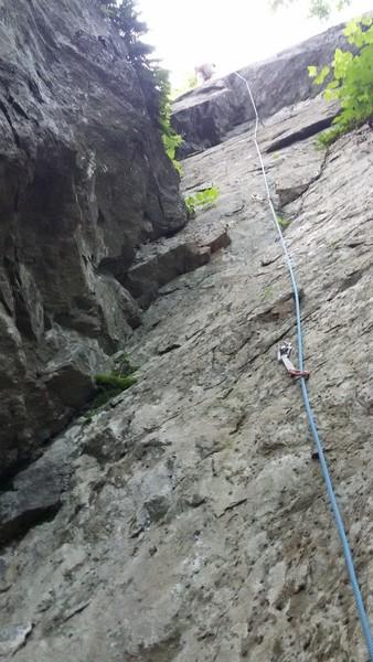 Rock Climbing Photo: The bolt line