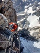 Rock Climbing Photo: Exposed moves on the upper exum!