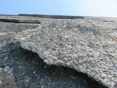 Rock Climbing Photo: Flakes on Pitch 9.
