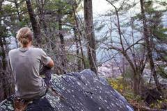 Rock Climbing Photo: Drake admiring the Lake after topping out. | The H...