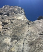 Rock Climbing Photo: Leading 'Pine Line' on the Nose of El Cap...