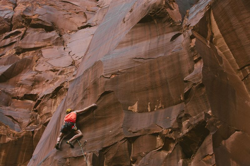 Right before the climb turns into quarter pad crimps on slab. Doesn't get the attention it deserves!