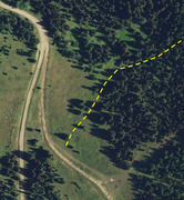 Rock Climbing Photo: Hike Beta Photo #3 - Initial section of hike from ...