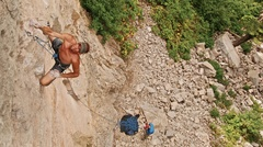 Rock Climbing Photo: Frank Dusl on an early ascent of 2 Wycked 5.12c