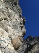 Rock Climbing Photo: Leading P3 is AMAZING! Sick exposure, nice overhan...