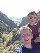 Rock Climbing Photo: Rewarding top-out. Good views of the canyon and si...