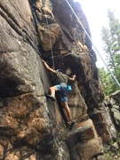 Rock Climbing Photo: Sage figuring out the opening sequence.