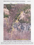 "Rock Climbing Photo: Area around ""King Arthur's Arete"""