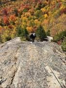"Rock Climbing Photo: Looking Down on P3, ""Arthur's Arete"""