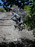 """Rock Climbing Photo: RW reaches for the cam placement on the """"Knig..."""
