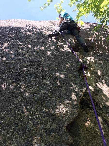 """Rock Climbing Photo: Opening Moves on the """"Caldor Crack"""""""