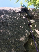 "Rock Climbing Photo: Opening Moves on the ""Caldor Crack"""
