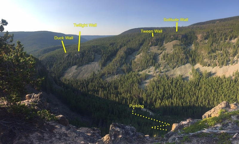 View from the top of prospector