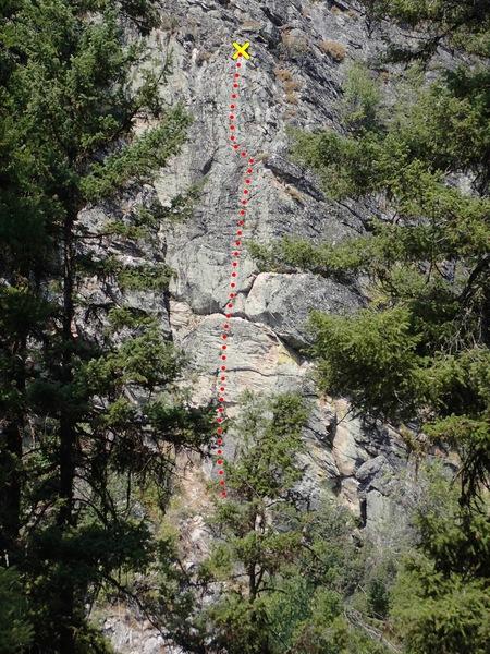Rock Climbing Photo: Bear Necessities topo