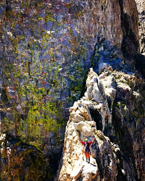 Rock Climbing Photo: Ridge traverse from first to second buttress!!