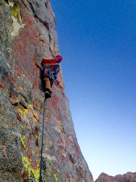 Rock Climbing Photo: Eddie Woods eating 10c for breakfast!!