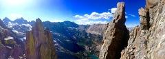 Rock Climbing Photo: Just passed the final notch around the orange towe...