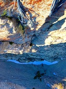 Rock Climbing Photo: Looking down pitch 2!!