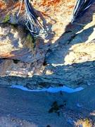 Rock Climbing Photo: Looking down pitch 2!!