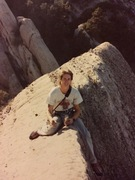 VD wall summit, Devils Punchbowl, CA. 1992