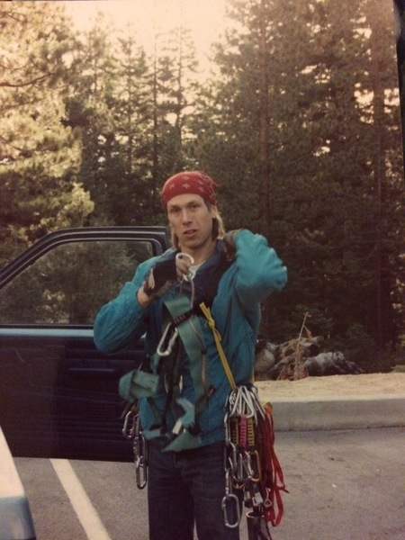 Looking rough, Whitney Portal, CA. 1992