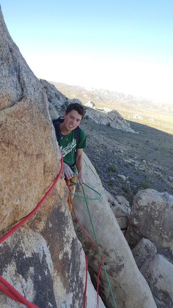 Rock Climbing Photo: Dalton forgot his helmet
