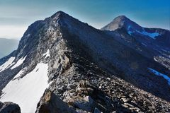 Rock Climbing Photo: Peak 9686 & Pyramid Peak