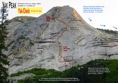 Rock Climbing Photo: Route Overlay Yak-Check.