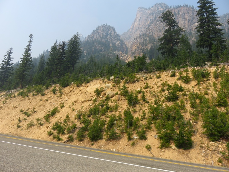 Rock Climbing Photo: Approach gully as seen from HWY 20.