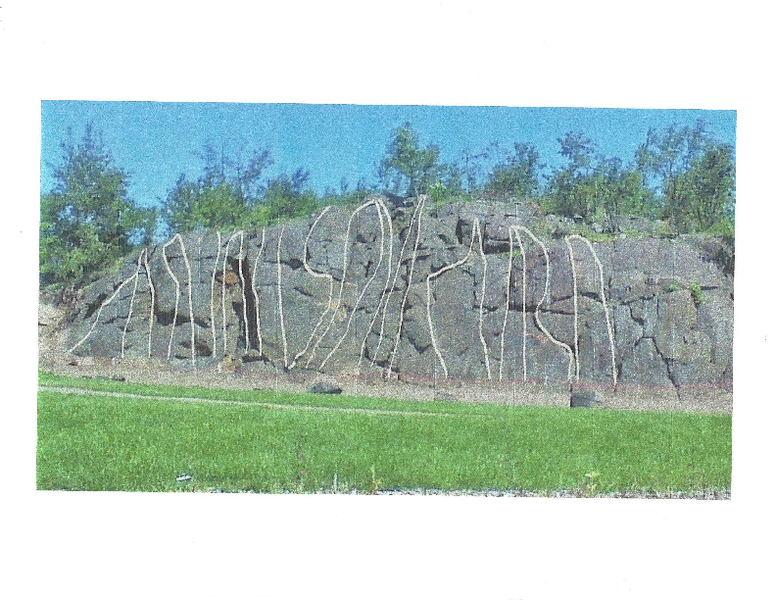 Rock Climbing Photo: New roadside crag. Small cliff with big cliff feat...