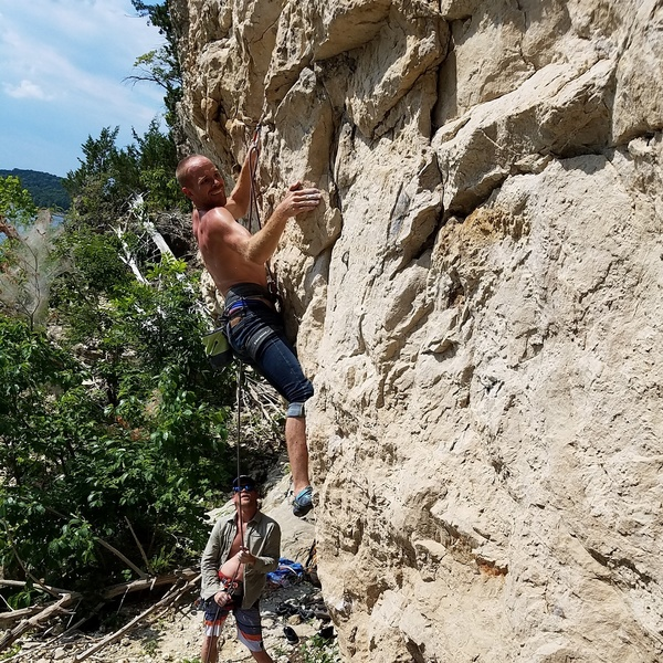 Rock Climbing Photo: Powering through the crux.