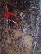 Rock Climbing Photo: Don Welsh on the second ascent of Scott Frye's Can...
