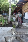 Rock Climbing Photo: Walking thru Julios Store/house