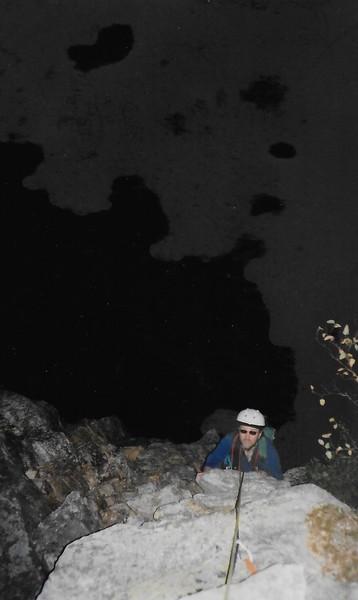 Rock Climbing Photo: Last Pitch in the DARK