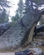 Rock Climbing Photo: Cass F on the Xenophilia slab.