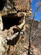 Rock Climbing Photo: Jeff Baldwin holding plenty in reserve as he loads...