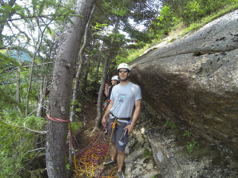 """Rock Climbing Photo: the """"Subway"""" on top of the 4th pitch in ..."""
