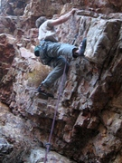"Rock Climbing Photo: Jeff Baldwin gettin' ready to ""Let It Go&quot..."