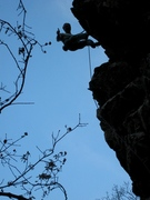 "Rock Climbing Photo: Ready to ""Let it Go""...Jeff Baldwin clip..."