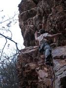 "Rock Climbing Photo: Jeff Baldwin thinking he'll ""Let It Go"" ..."