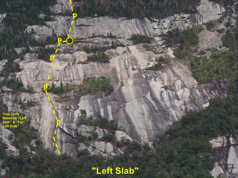 Rock Climbing Photo: Roughly the route.  Can only show the first 5 1/2 ...