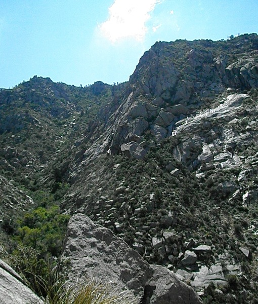 Rock Climbing Photo: Gemstone area, in the center of the photo, looking...