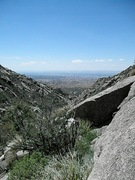 Rock Climbing Photo: Lower La Cueva Canyon looking west.